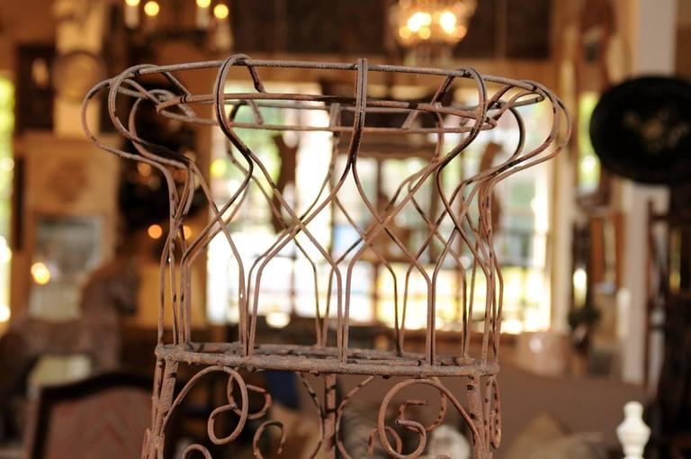 19th Century French Three-Tier Wire Planter For Sale