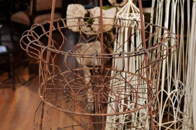 French Three-Tier Wire Planter For Sale 1