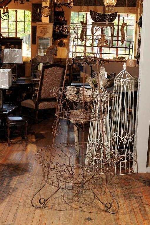 French Three-Tier Wire Planter For Sale 2