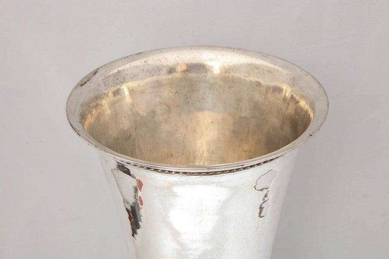 Large Art Deco Continental Silver (.800) Hanau Vase In Good Condition In New York, NY