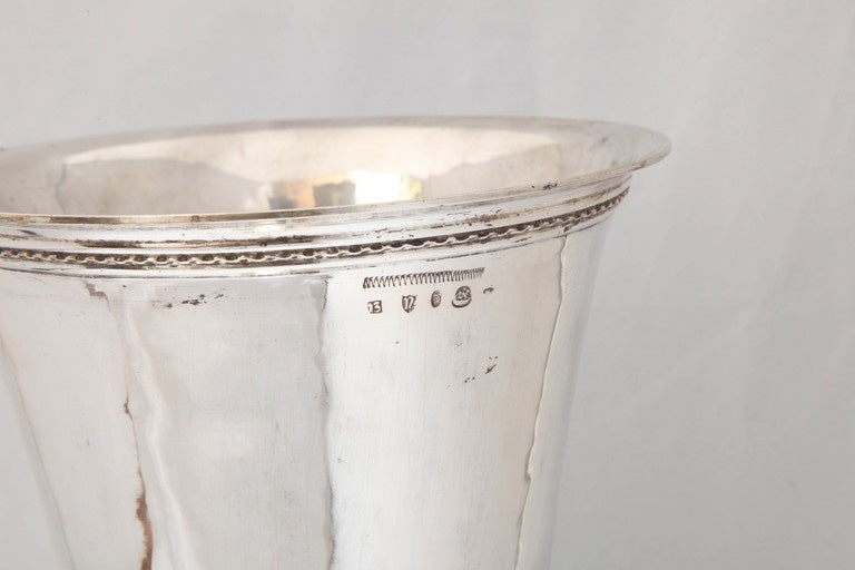 Early 20th Century Large Art Deco Continental Silver (.800) Hanau Vase