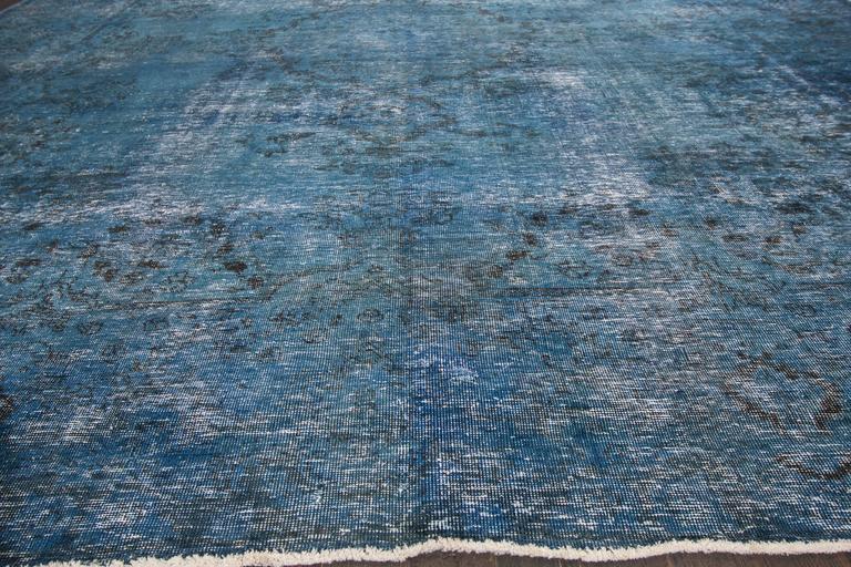 Vintage 1945 blue overdyed pakistani rug for sale at 1stdibs for Oriental furniture norwalk ct