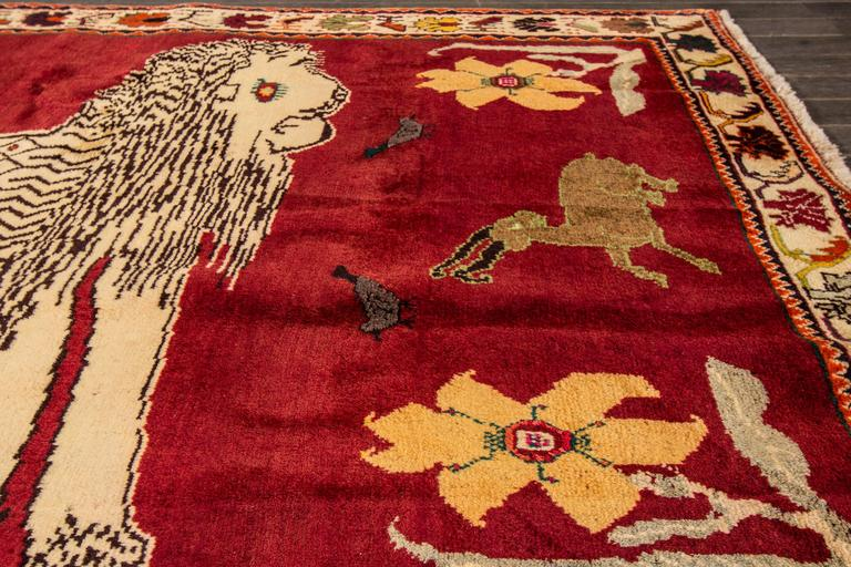 Lovely nice persian vintage gabbeh rug for sale at 1stdibs for Nice rugs for sale