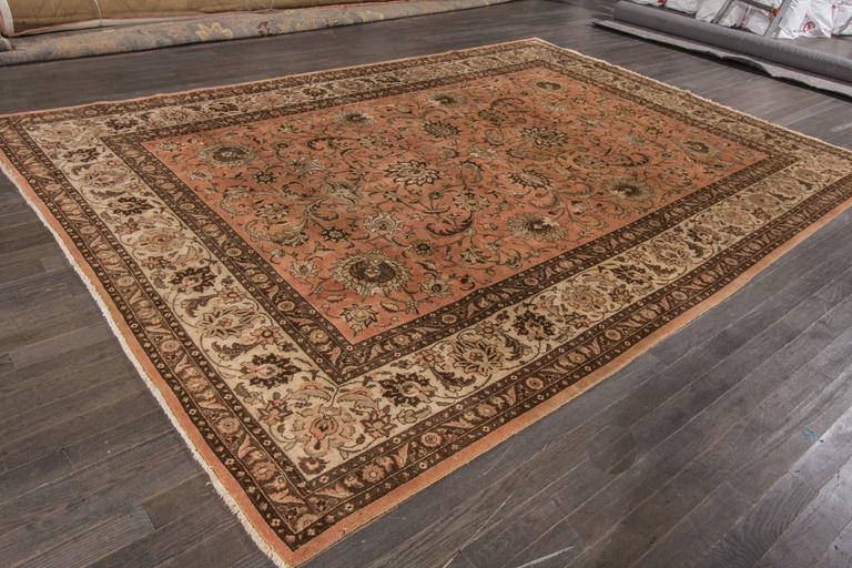 Lovely nice vintage tabriz rug for sale at 1stdibs for Nice rugs for sale