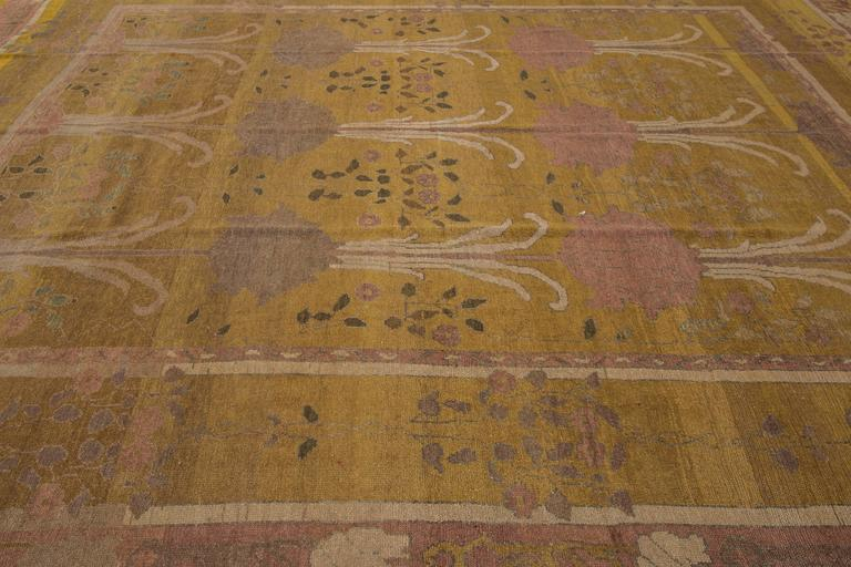 Beautiful decorated arts and crafts style rug for sale at for Arts and crafts style rug