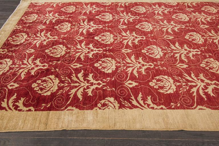 Lovely nice modern all over floral rug for sale at 1stdibs for Nice rugs for sale