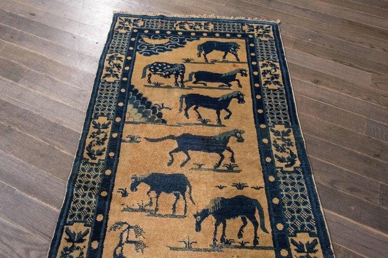 Antique Chinese Pictorial Horse Rug At 1stdibs