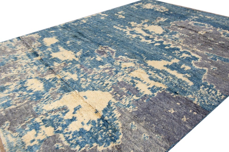 Modern Moroccan-Style Rug For Sale 1