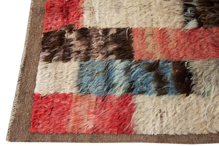 Hand-Knotted Modern Moroccan-style Rug For Sale