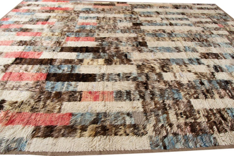 Wool Modern Moroccan-style Rug For Sale