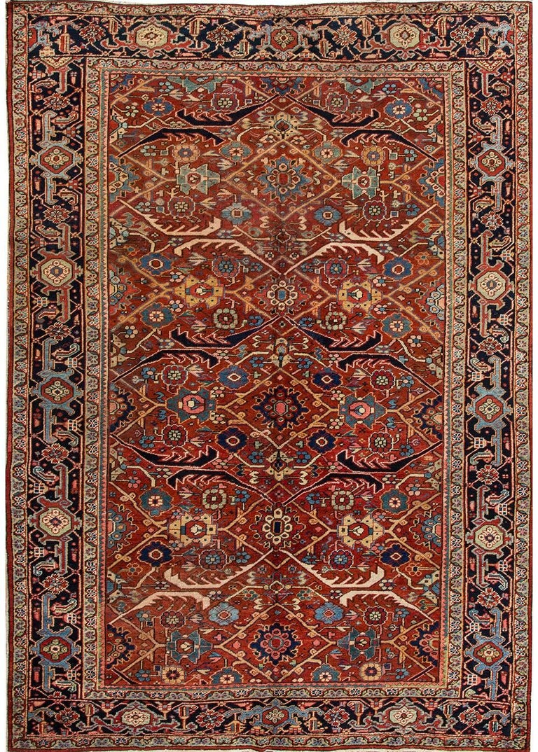 Antique Persian Heriz Rug For Sale At 1stdibs
