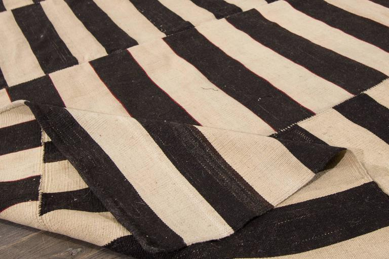 Lovely nice modern striped kilim rug for sale at 1stdibs for Nice rugs for sale