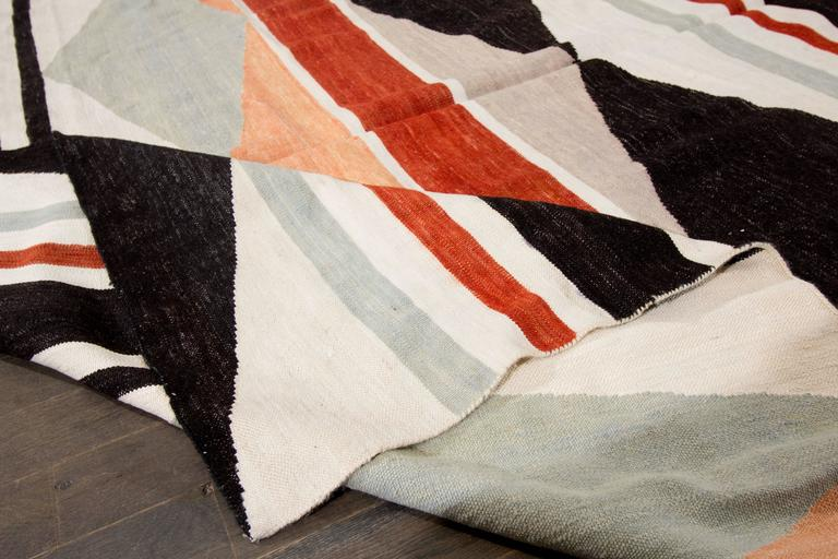 Nice looking modern geometric kilim rug for sale at 1stdibs for Nice rugs for sale
