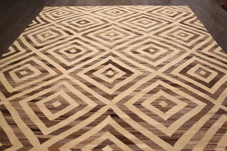 Nice looking modern abstract kilim rug for sale at 1stdibs for Nice rugs for sale