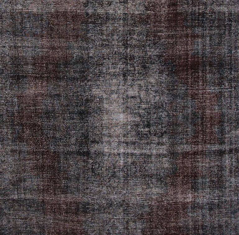 Vintage 1960s pakistani black overdyed rug for sale at 1stdibs for Oriental furniture norwalk ct
