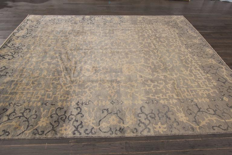 21st c contemporary blue beige chinese style rug for for Oriental furniture norwalk ct