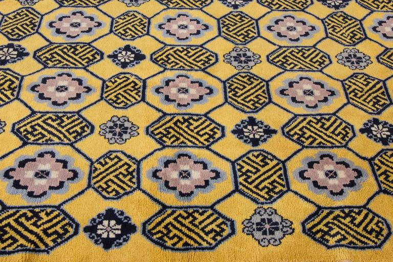Vintage 1950s yellow blue chinese carpet for sale at 1stdibs for Chinese furniture norwalk ct