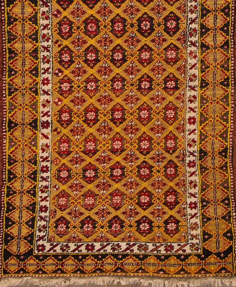 Antique Brown And Red Turkish Runner Rug For Sale At 1stdibs