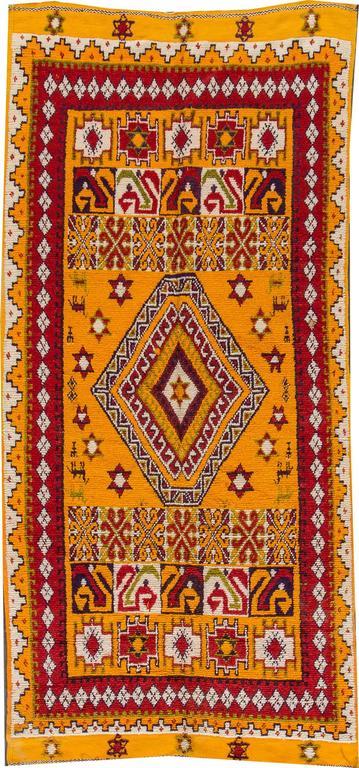 19th Century Orange/Red Moroccan Carpet 2