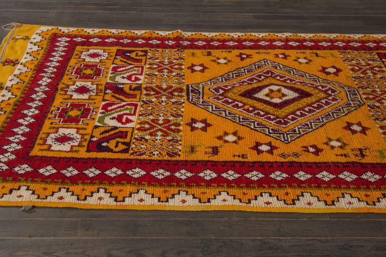 19th Century Orange/Red Moroccan Carpet 3