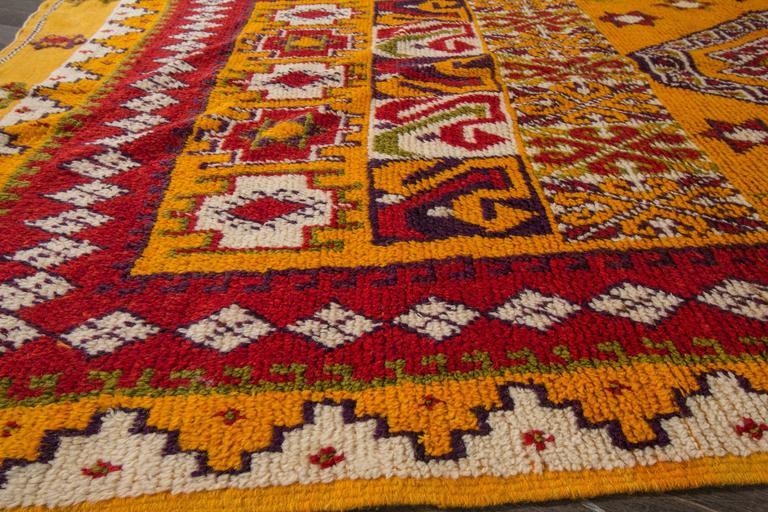 19th Century Orange/Red Moroccan Carpet 4