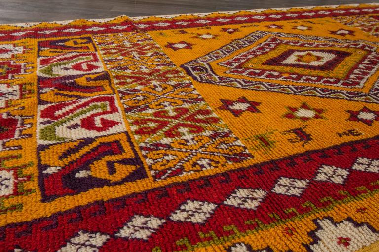 19th Century Orange/Red Moroccan Carpet 5