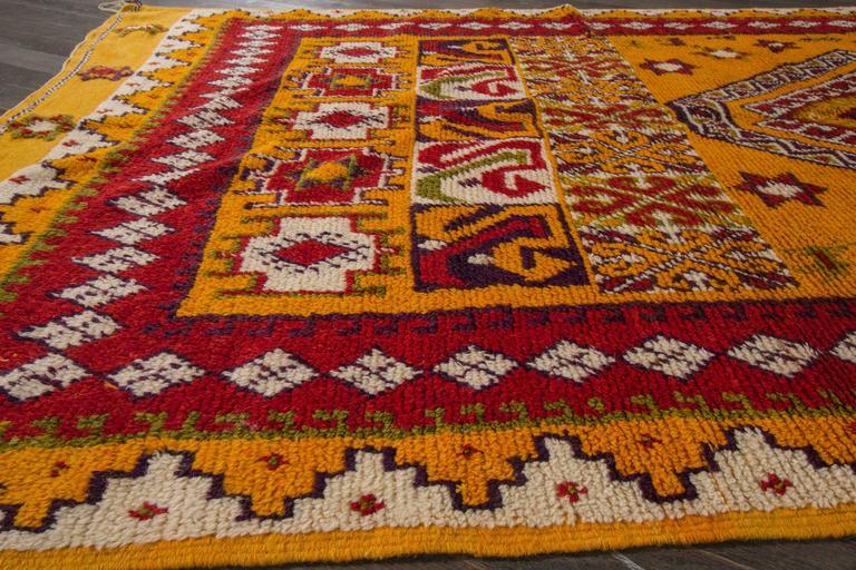19th Century Orange/Red Moroccan Carpet 6