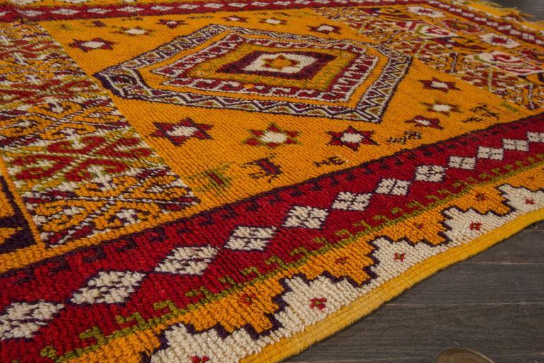 19th Century Orange/Red Moroccan Carpet 7