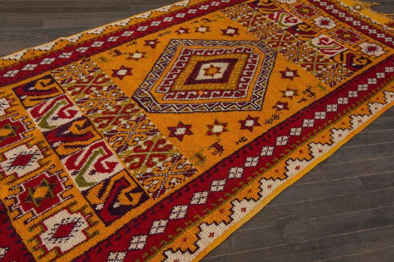 19th Century Orange/Red Moroccan Carpet 8