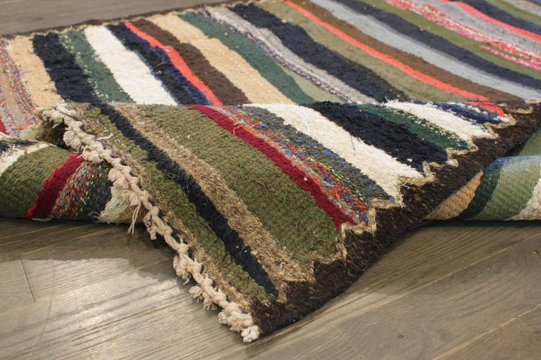 Hand-Knotted Beautifully Designed Vintage Persian Kilim Rug For Sale