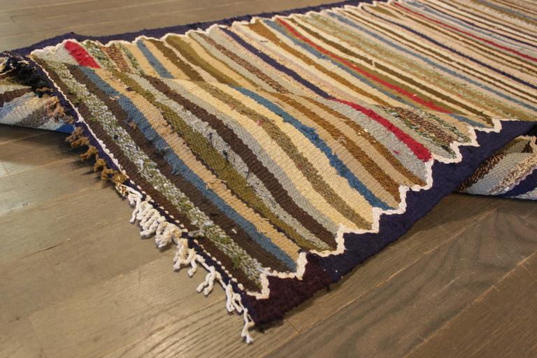 Wool Beautifully Designed Vintage Persian Kilim Rug For Sale