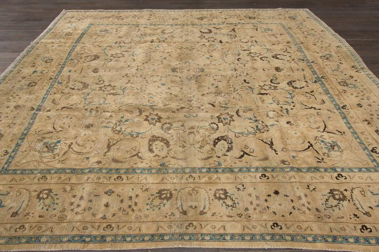Antique Persian Tabriz Square Rug For Sale At 1stdibs