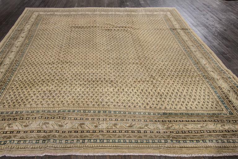 Beautifully Designed Antique Persian Tabriz Square Rug For