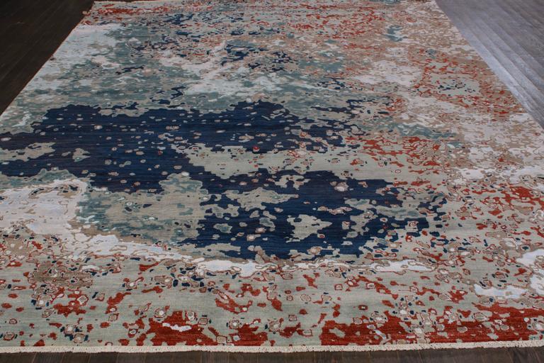 Zeitgenössischer indischer Teppich 6