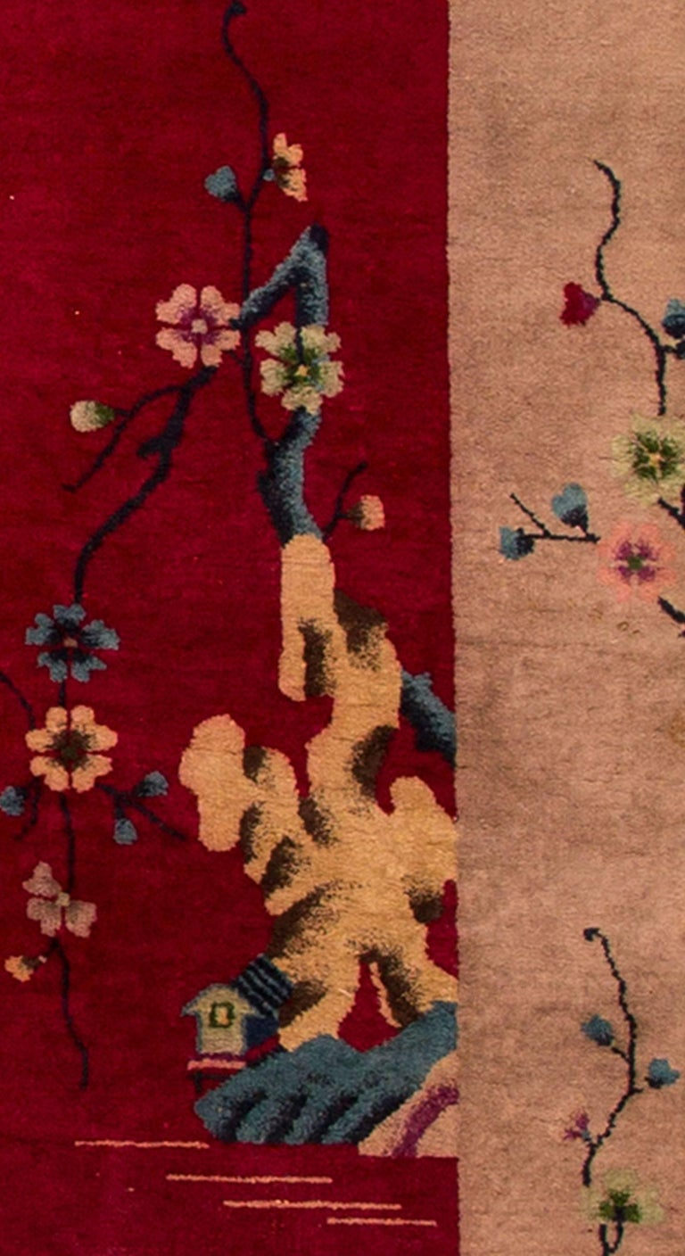 1920s chinese red tan art deco carpet for sale at 1stdibs for Chinese furniture norwalk ct