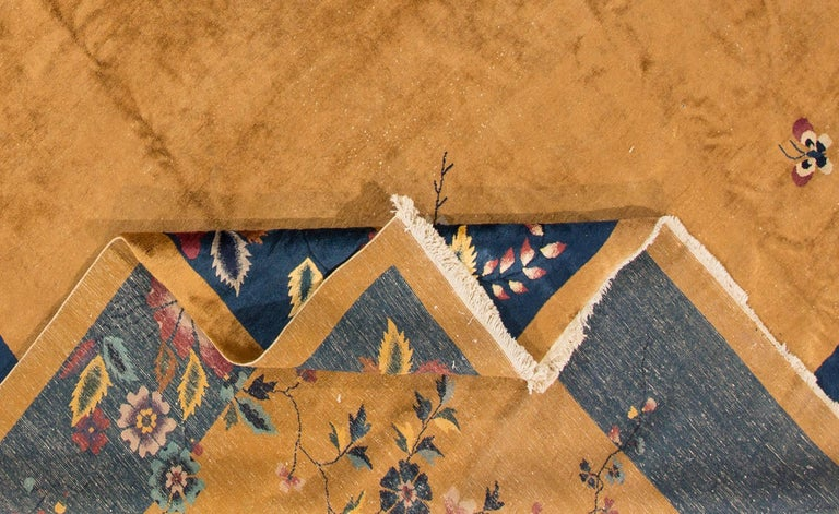 1920s Gold Blue Chinese Art Deco Carpet For Sale At 1stdibs