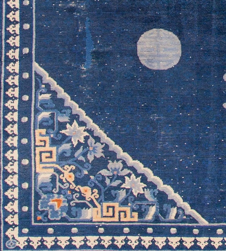 1920s chinese blue peking carpet for sale at 1stdibs for Chinese furniture norwalk ct