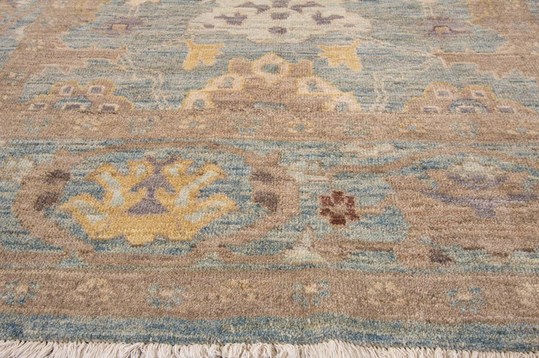 Hand-Knotted Gorgeously Designed Square Sultanabad Rug For Sale