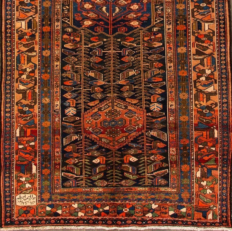 Early 20th Century Antique Persian Rust Or Blue Rug For
