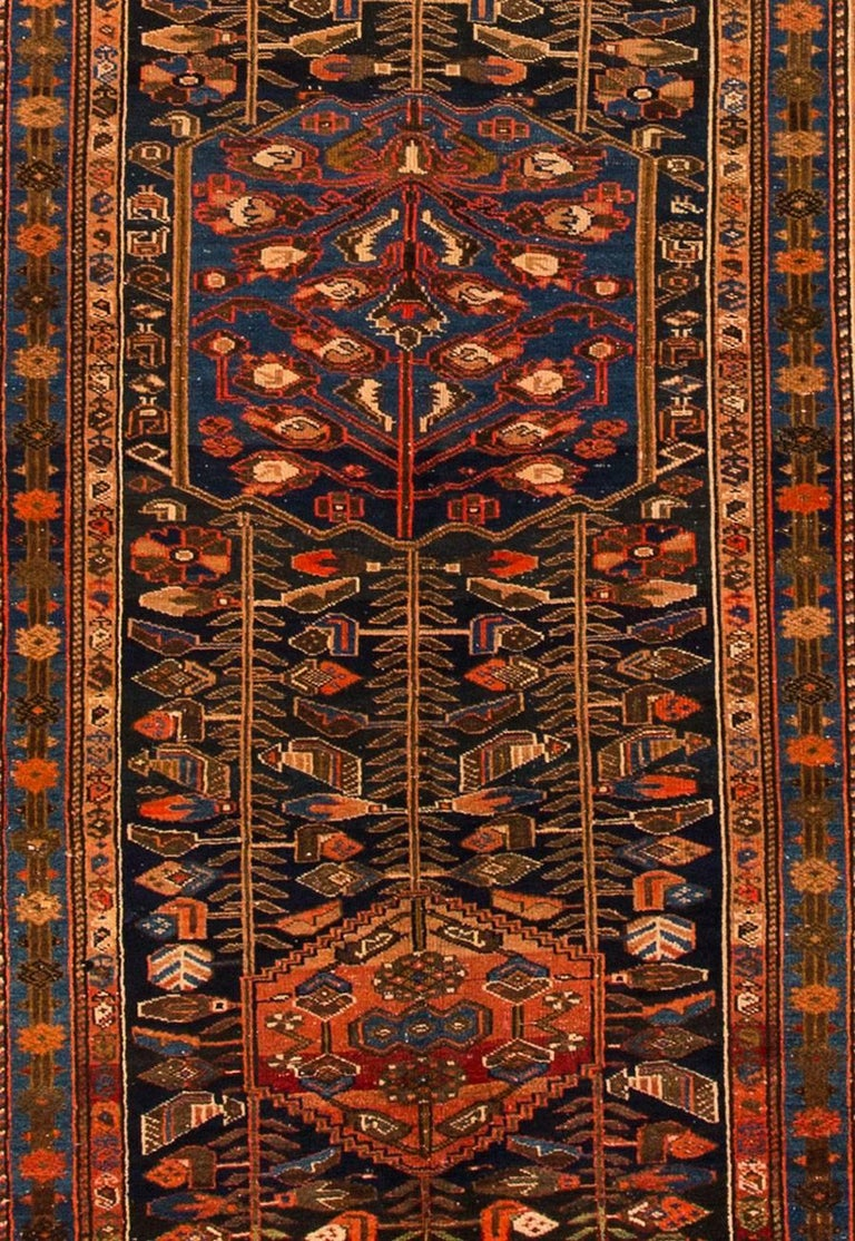 Antique Persian Rust Or Blue Rug In Excellent Condition For Norwalk Ct