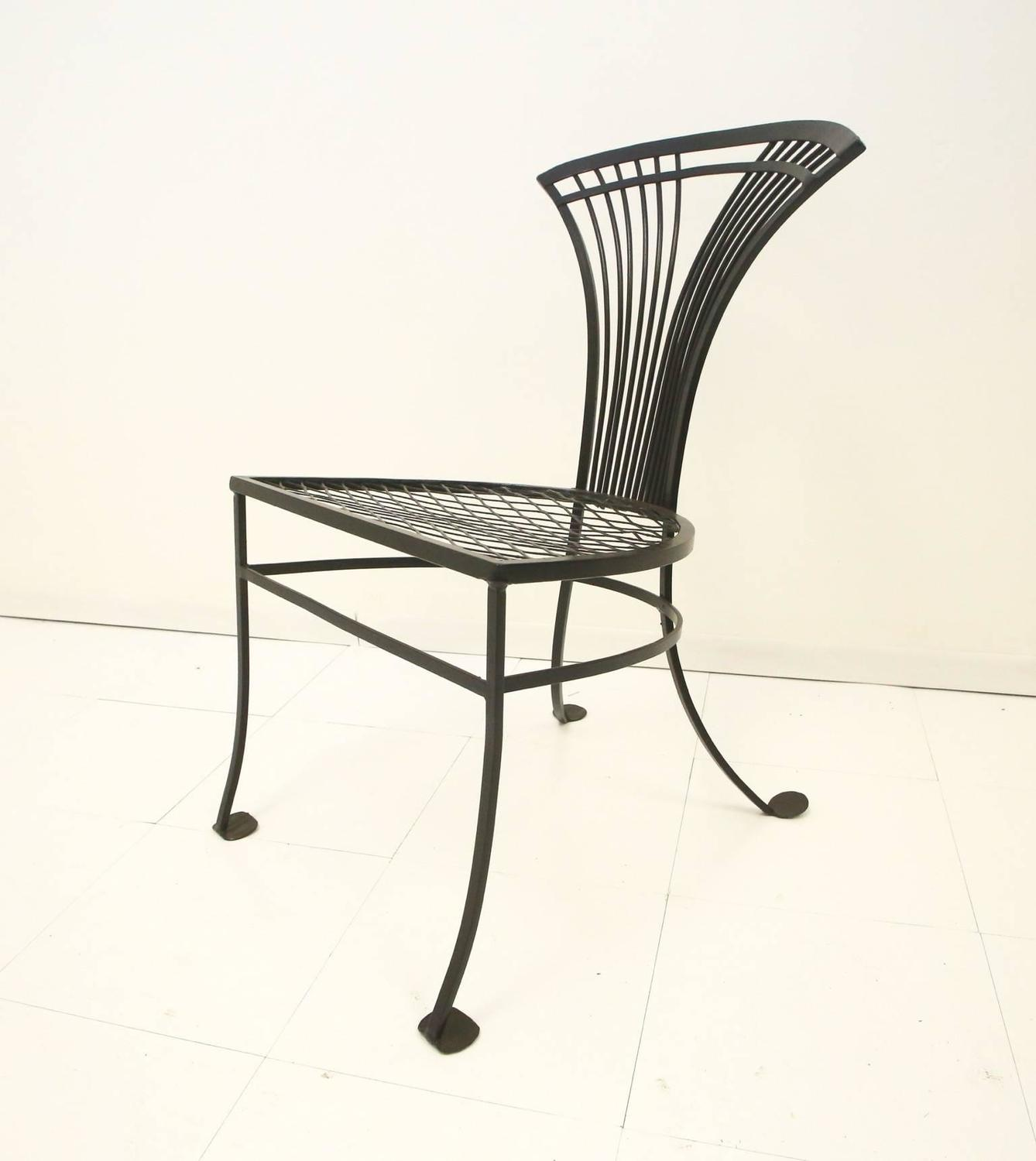 modernist metal dining table chairs at 1stdibs