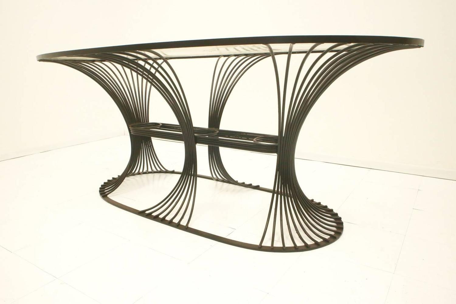 metal dining table and chairs metal dining room chairs dining modernist metal dining table chairs at 1stdibs the