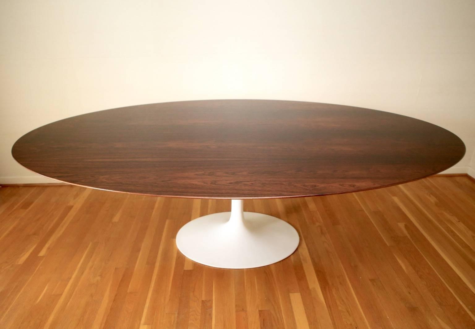 Rare Saarinen Walnut Dining Table At Stdibs - Saarinen oval dining table 96