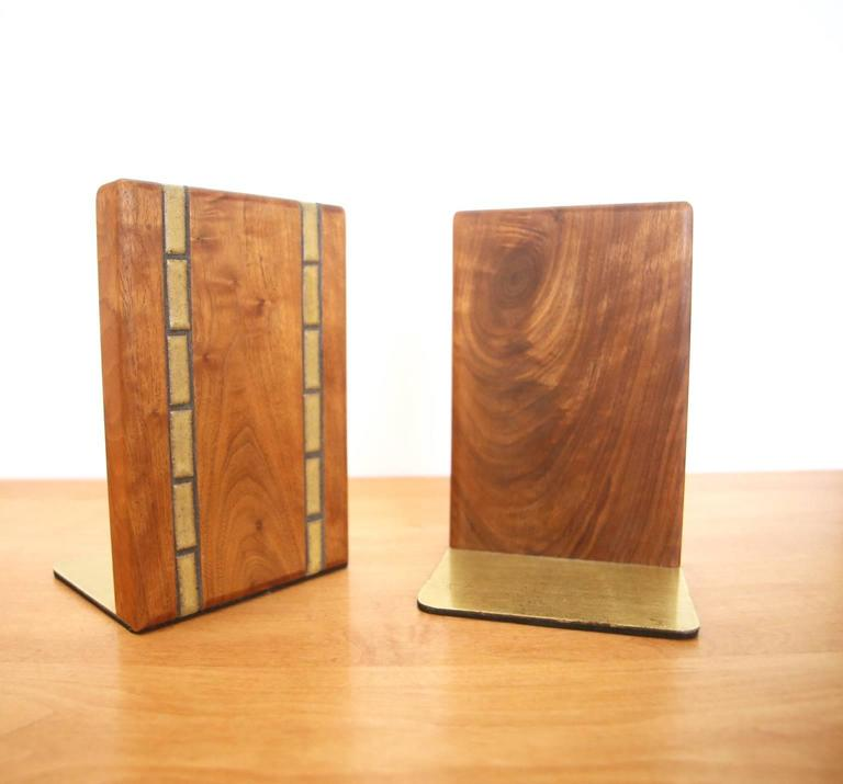 Mid-Century Modern Martz Walnut Bookends for Marshall Studios For Sale