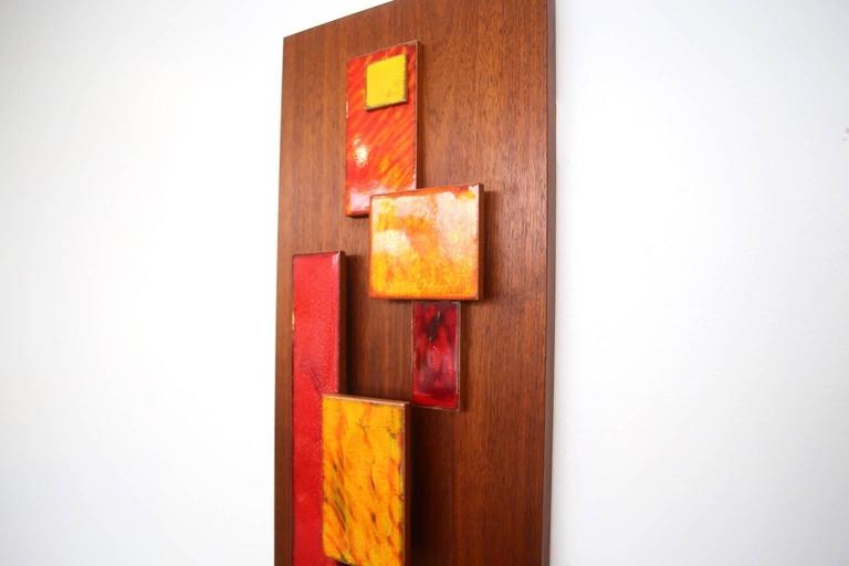 Mid-20th Century Harris Strong Abstract Wall Art Sculpture For Sale