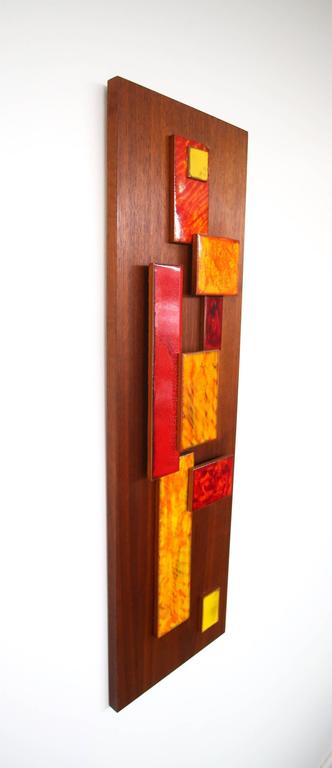 Mid-Century Modern Harris Strong Abstract Wall Art Sculpture For Sale