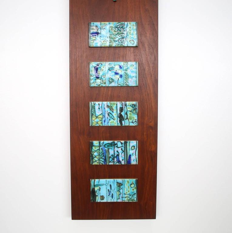 Mid-20th Century Harris Strong Tile Wall Clock For Sale