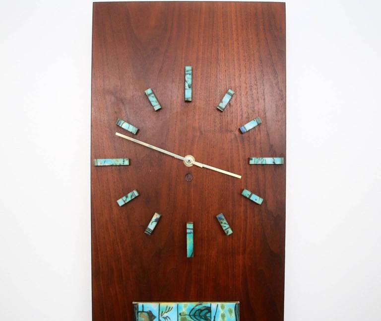 Mid-Century Modern Harris Strong Tile Wall Clock For Sale