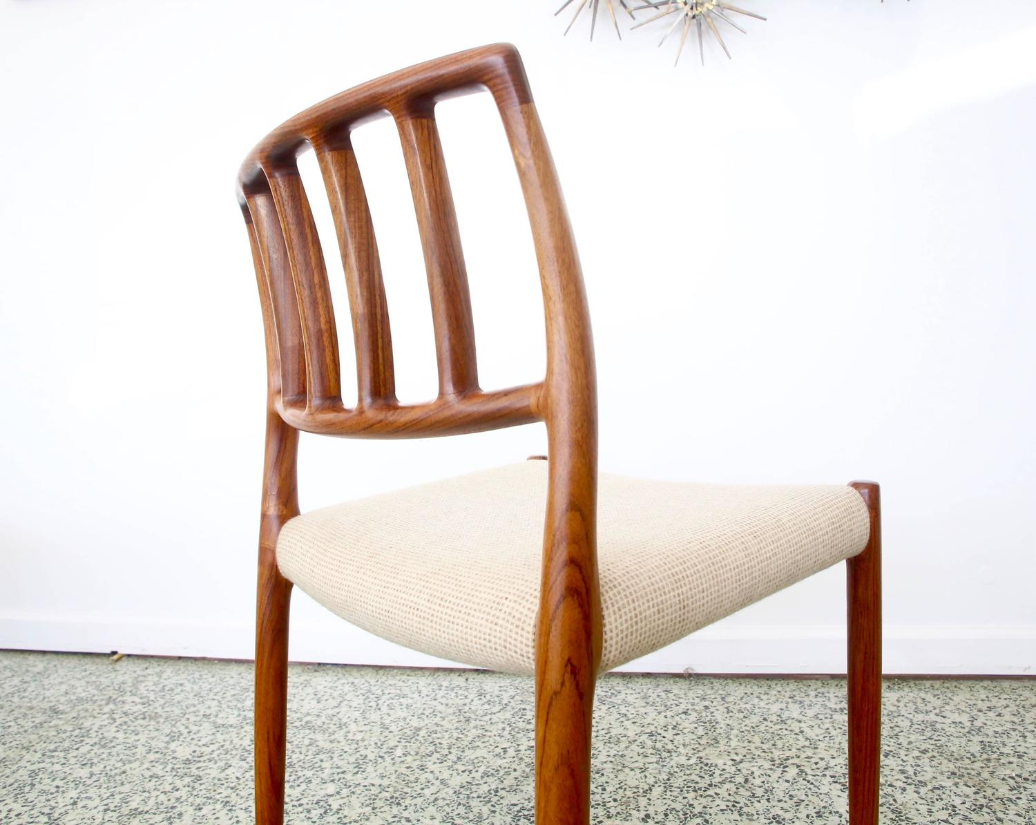 Four Danish Rosewood Dining Chairs By Niels Otto Moller At 1stdibs