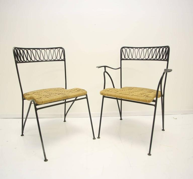 Mid-20th Century Maurizio Tempestini for Salterini Dining Set of Six Chairs and Table For Sale
